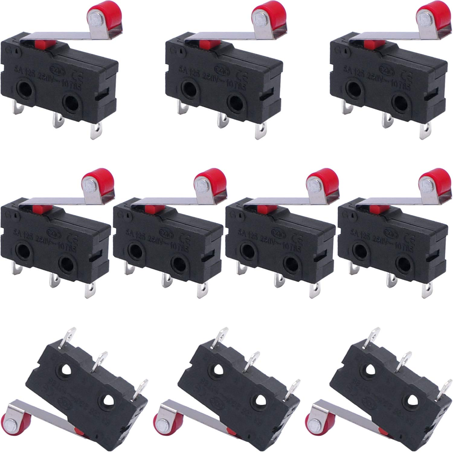 Taiss 10pcs Momentary Roller Special Campaign Lever Arm Now on sale 250 AC Micro Limit Switch