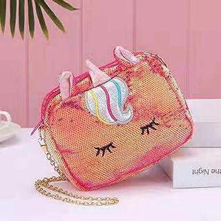 KIDSKIT Glittery Unicorn Bag for Girls Makeup Pouch Storage/Organizer Traveler Bag Unicorn Sling Bags / Unicorn Bags for G...