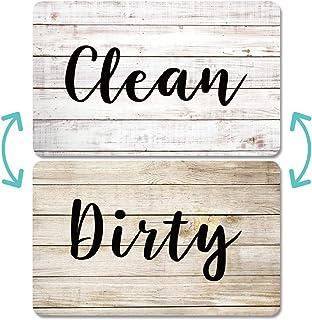 Aimants Pour Lave-vaisselle Scdom, Aimant Double Face en Bois Ancien, Aimants Avec Plaques Clean Dirty Magnétiques Pour La...