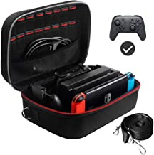 ANNMETER Carrying Case for Nintendo Switch, Deluxe Protective Hard Shell Travel Case Storage Bag for Switch Console Pro Co...