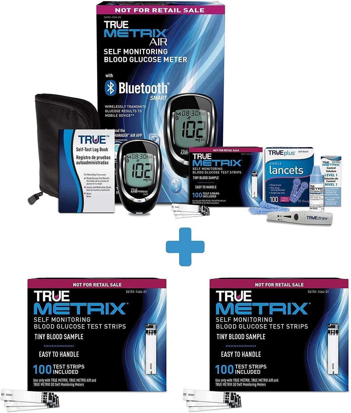 TRUE Metrix® AIR Limited price Starter Kit Glucose Tes All items free shipping Plus METRIX® Blood