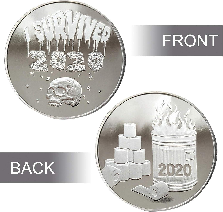 YUECI 2020 /Überlebende Gedenkm/ünzen Gute Qualit/ät Doppelseitige Coin zum Sammeln Geschenk Gedenkausgabe M/ünzsammlung Gedenkartikel 40 mm /× 2 mm