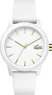 TR90 Quartz Watch with Rubber Strap, White, 18 (Model: 2001063)