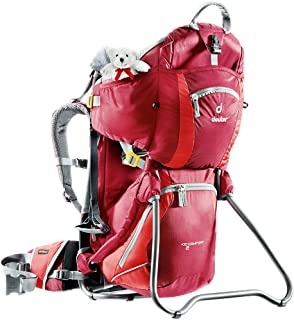 Deuter Kid Comfort 2 Framed Child Carrier for Hiking, Cranberry/Fire
