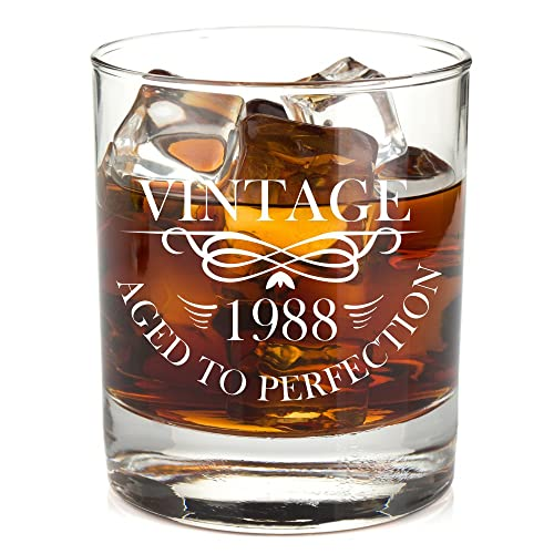 1988 31st Birthday Lowball Whiskey Glass For Men And Women