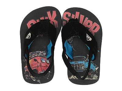 Quiksilver Kids Molokai Layback (Toddler) (Black/Grey/Red) Boys Shoes