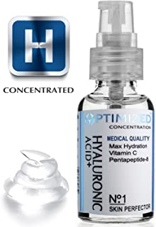 Best Anti Aging Vitamin C Serum with Hyaluronic Acid & Pentapeptide Face Perfector Outperforms ALL! Maximum Percentage Vit C Doctors Say Look Years Younger with Topical Vitamin-C!