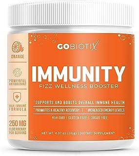 Sponsored Ad - Immunity Fizz Wellness Booster by GoBiotix – Vegan Antioxidant Immunity Powder | Organic Super-Food Extract...