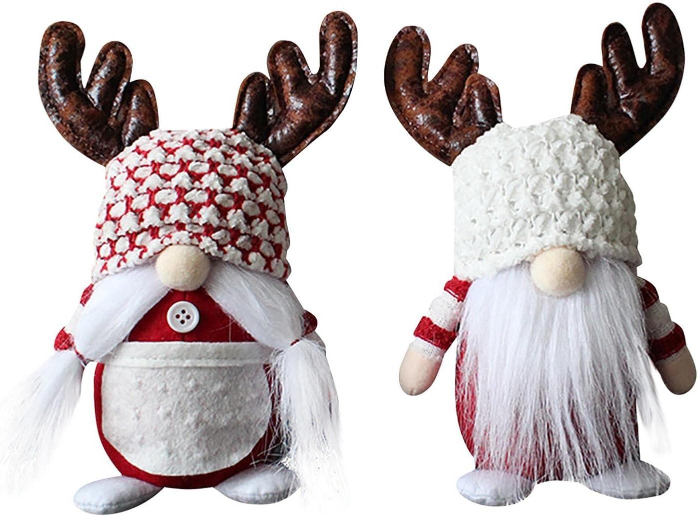 IDALL Ranking TOP9 At the price Cute Santa Claus Dwarf Plush Elfs Doll Antlers R Christmas