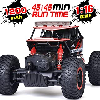 RC Car, NQD 1:16 Dual Motors Remote Control Truck, 2.4Ghz 4WD Off Road Remote Control Car with Two Rechargeable Batteries, Buggy Hobby Toy for Kids & Adults