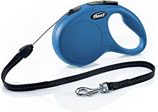 Flexi New Classic Retractable Dog Leash (Cord), 26 ft, Small, Blue
