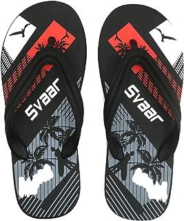 SVAAR® Comfortable Black Slippers for Men
