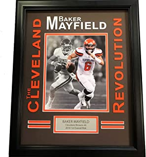 7988e4899f4 Framed Baker Mayfield Cleveland Brown Revolution 8x10 Football Photo Professional  Matted