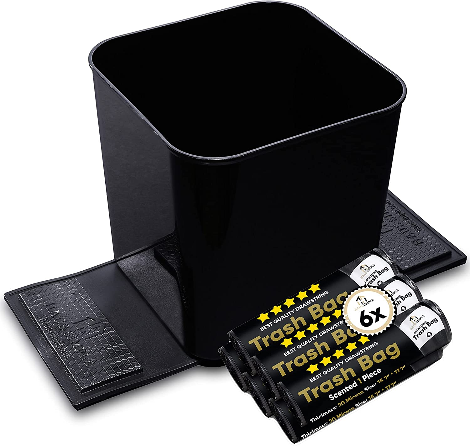 Car Trash Can Spill Proof Organizer Garbage G Litter 1.4 Opening Sacramento Mall large release sale