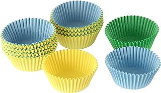 Einfach & gut Dr. Oetker Papier-Backförmchen Durchmesser 3 cm, bunte Muffinförmchen aus Papier, Förmchen für Cupcakes, Muffins und Pudding, Farbe: gelb/grün/blau Menge: 180 Stück