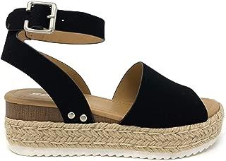 Topic Topshoe Avenue Women's Open Toe Ankle Strap Espadrille Sandal