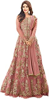 d154690509 Hir Fashion Women's Heavy Net Gown Embroidered Semi Stitched Anarkali Gown  women gowns for girls latest