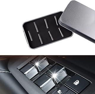 Ansgo シビック ハッチバック fk7 fk8 fc1 セダン インサイトZE4 ドアスイッチパネル ウィンドウスイッチガーニッシュ インテリアパネル ABS素材 (シルバー)