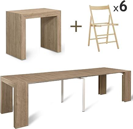 Tavolo Quadrato Allungabile 12 Posti.Amazon It Tavolo Pieghevole Con Sedie Console Tavoli E Tavolini
