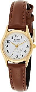 Casio Casual Analog Display Japanese Quartz Watch For Women Ltp-1094Q-7B7, Brown Band