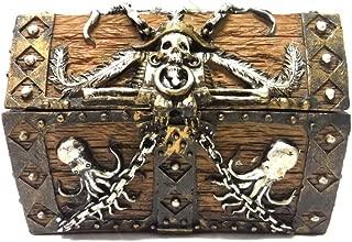 PTC 5.5 Inch Skull and Chain Pirate's Chest Jewelry/Trinket Box Figurine