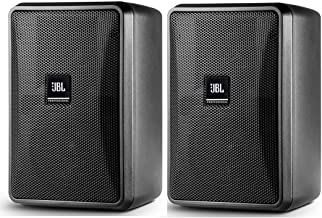 JBL Professional Ultra-Compact 8-Ohm Indoor/Outdoor Background/Foreground Speaker, Black, Sold as Pair