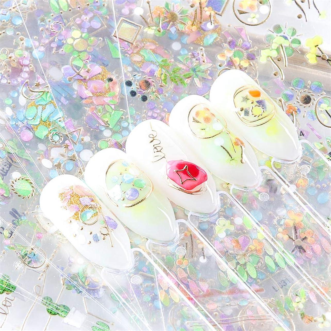 収入詳細にアンケート貼るだけでいい 3Dお花 フレームパーツ風 メタルの型 枠 チャーム ネイルシールネイルステッカー ジェルネイルやレジンに 埋め込み ネイルアート 4枚セット (1)