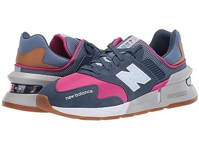 New Balance Classics WS997Jv1 (Stone Blue/Exuberant Pink) Women