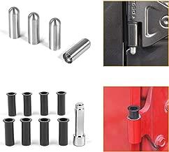 Voodonala Door Hinge Pin Bolts Guides Liners and Door Bushing Removal Tool for 2007-2019 Jeep Wrangler JK JL 2 Door 1 Set