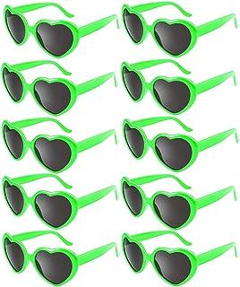 b5ac1a7277 Fsmiling Colores de Neon Gafas de Sol Corazón para Mujeres Niños Favores de  Fiesta (10as