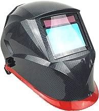 """Welding Mask Optical 1111 View Size 3.95x2.56"""" (100x65mm) Shade DIN 3-13 4 Sensors CE EN379 Welding Helmet (A.1 Carbon Red)"""