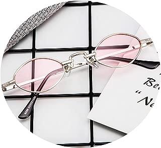 Gnzoe Sunglasses Metal Frame Sunglasses for Men Women Oval