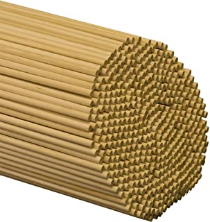Dowel Rods Wood Sticks 1/4 Inch X 12 Inches 25 Pieces Woodpeckers Wooden Dowel Rods