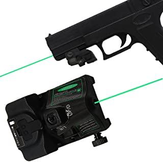 LASERCROSS RGL102 Green Laser Sight, Portable Compact Pistol Sight with 20mm Rail Picatinny On/Off Switch for Rifle Handgun Pistol Airsoft Air Soft Optic