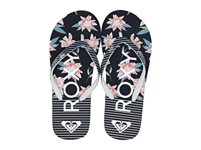Roxy Kids Pebbles VI (Little Kid/Big Kid) (Navy/White) Girls Shoes