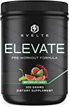 SVELTE Elevate Pre-Workout Supplement for Men and Women with L-Arginine, Beta Alanine, L-Citrulline & Caffeine - Energy Dr...