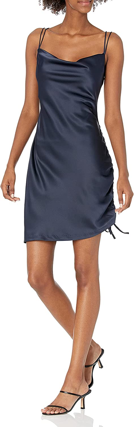 Parker Women's Ivy Sleeveless Drap Front Ruched Side Dress