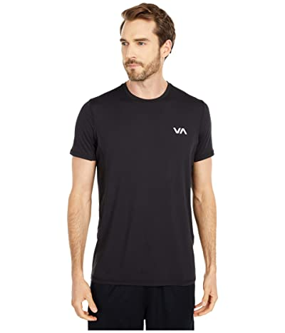 RVCA VA Sport Vent Short Sleeve Top (Black 1) Men