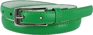 CTM Women's Skinny Leather Dress Belt