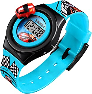 Kids Digital Watches 3D Car Silicone Children Toddler Wrist Watches Time Best Gift for Boys Girls Little Child