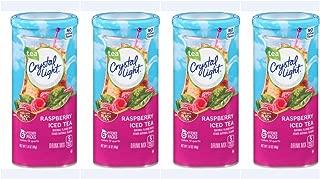 Crystal Light Raspberry Iced Tea, 12-Quart 1.6-Ounce Canister (Pack Of 4)