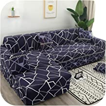 Sofa Cover:L Shaped Corner Sofa Slipcovers Printed Elastic Stretch Sectional Couch Sofa Cover Chaise Lounge Living Room-Co...