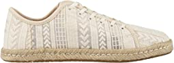 Natural Arrow Embroidered Mesh