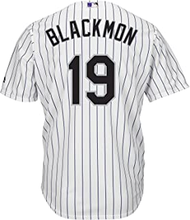 Outerstuff Charlie Blackmon Colorado Rockies White Youth 8-20 Cool Base Home Replica Jersey