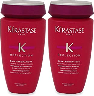 Kerastase Reflection Bain Chromatique Multi-Protecting Shampoo (Colour-Treated or Highlighted Hair) 250ml/8.5oz (Pack of 2)