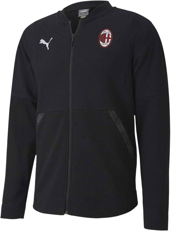 PUMA Ac Milan Temporada 2020/21 - Casuals Jacket Black White Chaqueta Unisex adulto