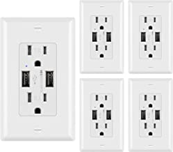 Best 125 volt 20 amp outlet with usb ports Reviews