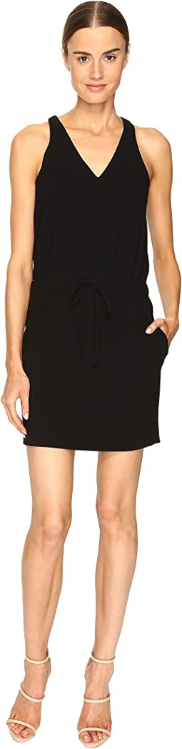 Drawstring V-Neck Dress