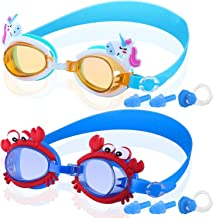 COOLOO Kids Swim Goggles, Pack of 2, Swimming Goggles for Children Boys Girls and Early Teens from 3 to 12 Years Old, Anti-Fog, Waterproof, Clear Vision, Protection