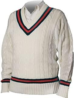 Cricket Full Sleeve Sweater Acrylic Navy/Red